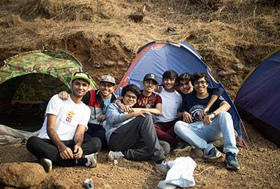 student camping near pune