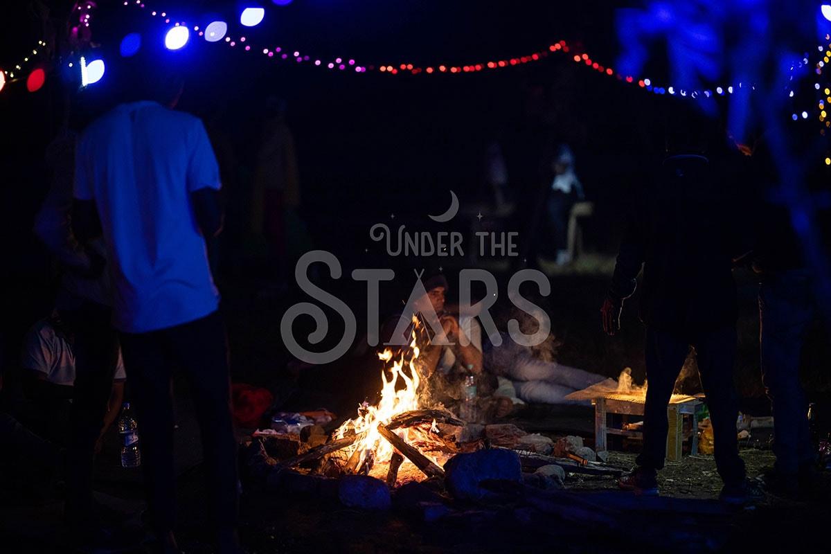 bonfire at camping